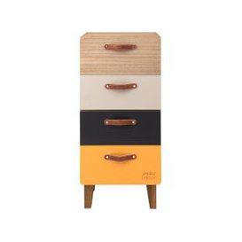 image-4-Drawer Multicoloured Small Storage Unit
