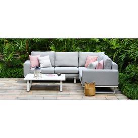 image-Maze Lounge Outdoor Ethos Lead Chine Fabric Corner Sofa Group