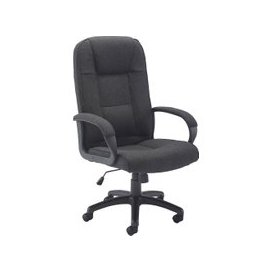 image-Ippari Fabric Executive Chair, Charcoal, Free Standard Delivery