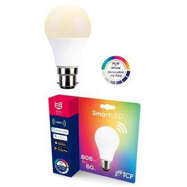 image-TCP Smart WI-FI 60W Dimmable Colour RGB Light Bulb