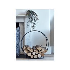 image-Round Iron Log Holder