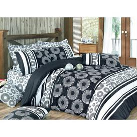 image-Hagy Duvet Cover Set Brayden Studio Size: Single - 1 Standard Pillowcase, Colour: Black/White
