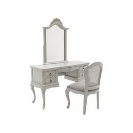 image-Albus Dressing Table And Mirror In Antique Grey