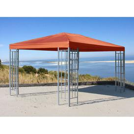 image-Cady 4m x 3m Gazebo Sol 72 Outdoor Roof colour: Terracotta