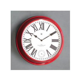 image-Concord Red Clock Red