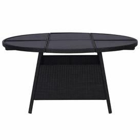 image-Fina Coffee Table Dakota Fields Table Base Colour: Black, Size: 74cm H x 150cm W x 150cm D