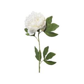 image-Artificial peony in white H 84cm