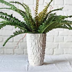 image-Ceramic Ruffle Vase White Large