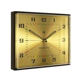 image-Box Office Brass 36 X 42Cm Wall Clock, Brass