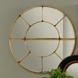 image-Pacific Lifestyle 2 Oval Section Metal Wall Mirror 92x46 Gold Gold