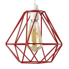 image-Metal Novelty Pendant Shade Zipcode Design Colour: Red
