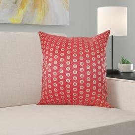 image-Gillette Cotton Cushion Cover Brayden Studio Colour: Hot Pepper, Size: 40 x 40cm