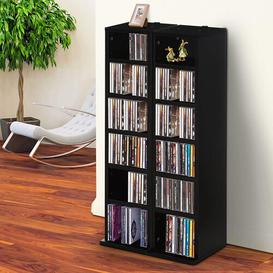 image-Multimedia Open DVD/CD Shelf Ebern Designs Colour: Black