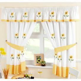 image-Joachim 5 Piece Kitchen Curtain and Pelmet Set Brambly Cottage Size: 168cm W x 122cm L