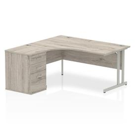 image-Zetta Executive Desk Ebern Designs Size: 73 cm H x 180 cm W x 80 cm D, Orientation: Right