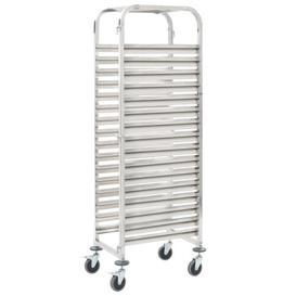 image-16 Trays Stainless Steel Serving Cart Symple Stuff