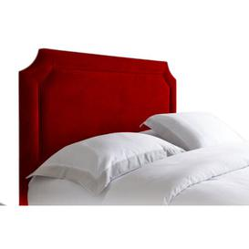 image-Upholstered Headboard Ophelia & Co. Size: Small Double (4'), Upholstery: Red