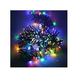 image-280, 360, 720, 960, 2000 Multifunction LED Christmas Cluster Lights with Timer and Green Cable - Multi Coloured [960]
