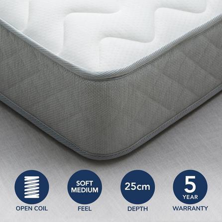 image-Fogarty Bamboo Anti Allergy Open Coil Mattress White
