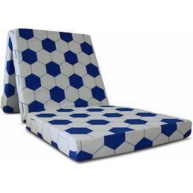 image-Dull Small Single Guest Folding Foam Mattress Symple Stuff Colour: Blue/White