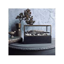 image-Small Wonders Antiqued Brass Display Case (size: Small)