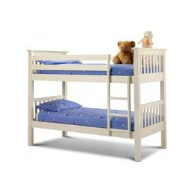 image-Julian Bowen Barcelona Stone White Bunk Bed
