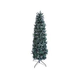 image-Oncor 210cm (7 Foot) Green Slim Pencil Pine 756 Tips Christmas Tree