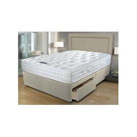 "image-Sleepeezee Ultrafirm 1600 Pocket Divan Set - Single (3' x 6'3""), Side Opening Ottoman, Sleepeezee_Joshua Latte"