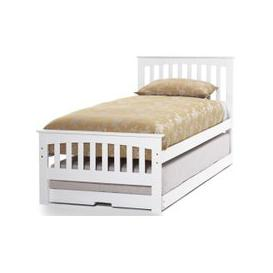 image-Hevea Wood Amelia Opal White Guest Bed - Serene Furnishings
