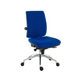 image-Baron Deluxe 24HR Ergonomic Operator Chair (Fabric), Blue, Free Standard Delivery