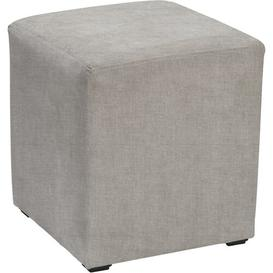 image-Newbury Cube Ottoman Mercury Row Upholstery: Kiera Silver