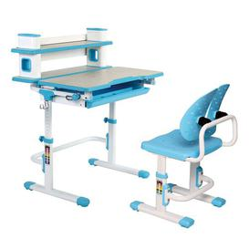 image-Agnon Children's 2 Piece Play Table and Chair Set Isabelle & Max Colour (Table Top/Legs): Blue/White