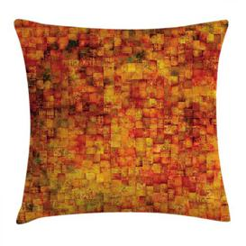 image-Constantina Burnt Grunge Outdoor Cushion Cover Ebern Designs Size: 60cm H x 60cm W