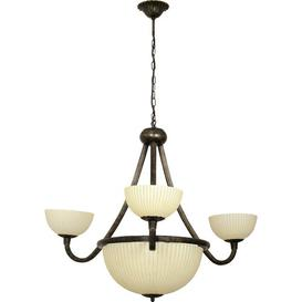 image-Hammersdale 6-Light Shaded Chandelier Ophelia & Co. Colour: Brown