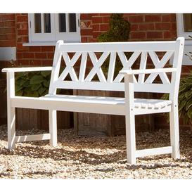 image-Alexander Rose Garden Furniture New England White Drachmann 5ft Bench