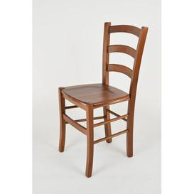 image-Walraven Solid Wood Dining Chair Marlow Home Co. Colour: Dark Walnut