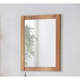 image-Classic Bathroom Mirror Belfry Bathroom Size: 80cm H x 80cm W x 2cm D, Colour: Oak