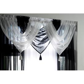 image-Maloy 56cm Curtain Pelmet Bloomsbury Market Colour: Black