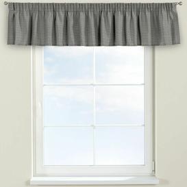 image-Quadro Curtain Pelmet Dekoria Size: 130cm W x 40cm L, Colour: Grey/Ecru