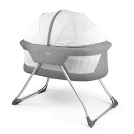 image-Daniels Travel Cot with Mattress Isabelle & Max Finish: Grey