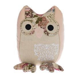 image-Balceta Owl Fabric Door Stop Lily Manor