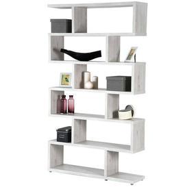 image-Burrier Bookcase Mercury Row Size: H191 x W80 x D28cm, Colour: White