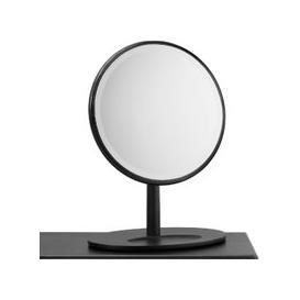 image-Rebecca Oak Dressing Table Mirror in Black