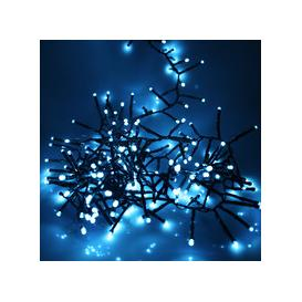 image-360, 480, 720 Multifunction LED Christmas Cluster Lights with Timer and Green Cable - Ice Blue [360 - 4.5m]