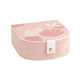 image-Pink Jewellery Box with Floral Print