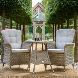 image-2021 Hartman Heritage Garden Bistro Set With Table - Beech/Dove