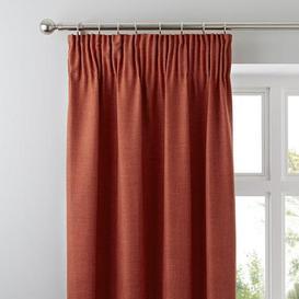 image-Vermont Orange Pencil Pleat Curtains Orange