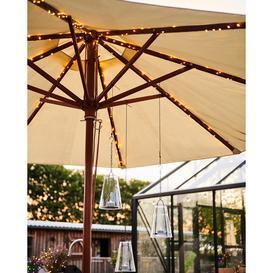 image-Solar Parasol LED Outdoor String Lights