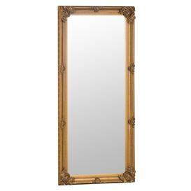 image-Florence Leaner Gold Wooden Frame Mirror 80 x 175