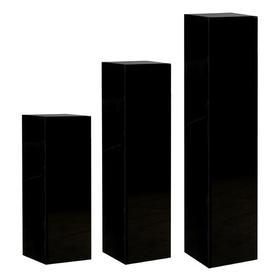 image-SolidBalsam Pedestal Plant Stand Bloomsbury Market Colour: Black, Size: H100 x L27 x D27cm